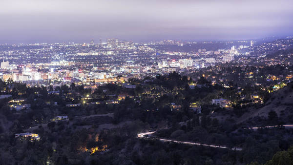 Photograph - Los Angeles Night-scape No. 2 by Belinda Greb