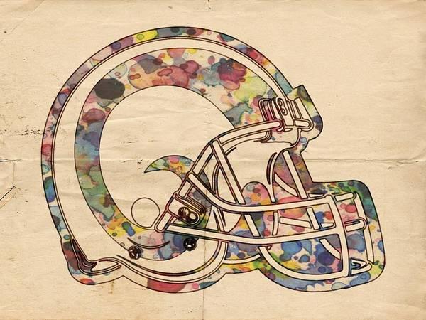 Painting - Los Angeles Rams Logo Vintage by Florian Rodarte
