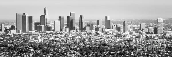 Wall Art - Photograph - Los Angeles Skyline Panorama Photo by Paul Velgos