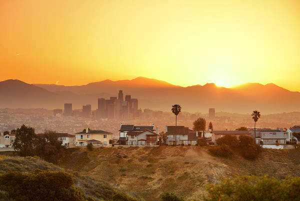 Photograph - Los Angeles Sunrise by Songquan Deng