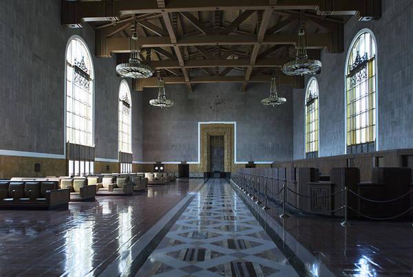 Photograph - Los Angeles Union Station Original Ticket Lobby by Belinda Greb