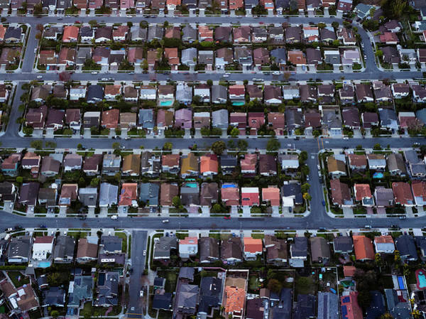 Suburbs Photograph - Los Angels, Residential Housing by Michael H