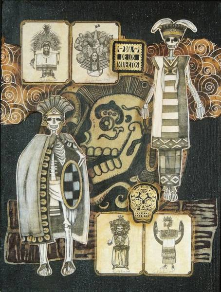 Wall Art - Mixed Media - Los Indios by Candy Mayer