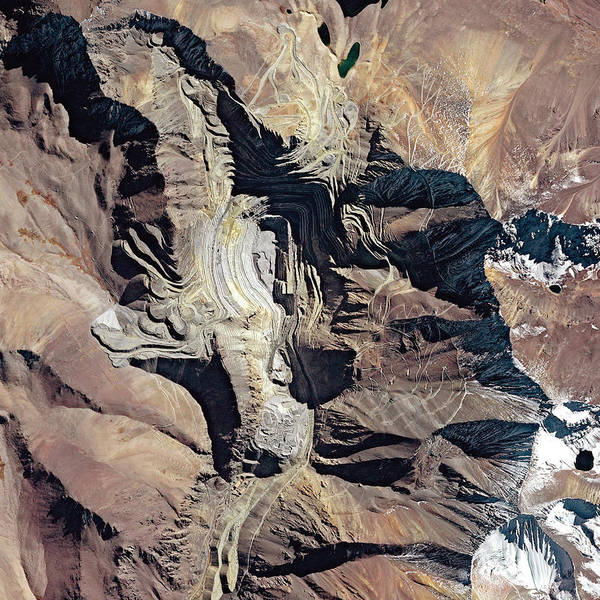 Wall Art - Photograph - Los Pelambres Mine by Cnes, 2006 Distribution Spot Image/science Photo Library
