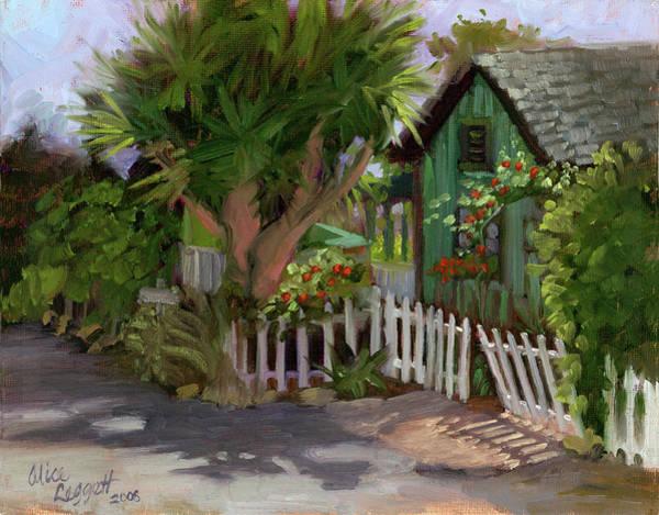 White Picket Fence Painting - Los Rios Street San Juan Capistrano California by Alice Leggett