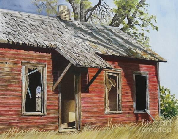 Drawing - Lost America by Rosellen Westerhoff