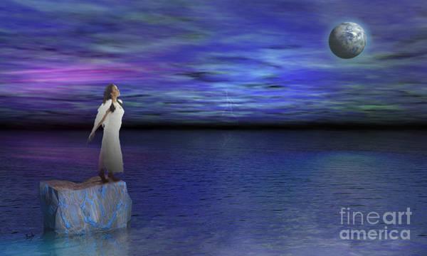 Purple Haze Digital Art - Lost Angel by Peter Awax