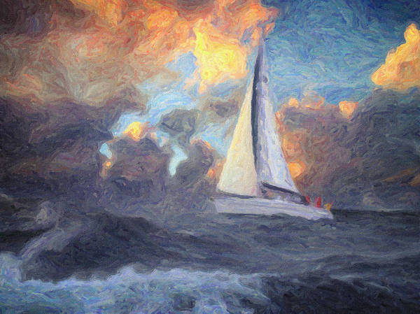 Painting - Lost At Sea by Zapista Zapista