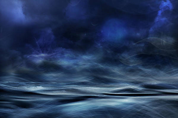 Abstract Smoke Photograph - Lost At Sea by Willy Marthinussen
