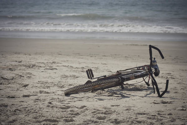 Photograph - Lost Bicycle by Maria Heyens