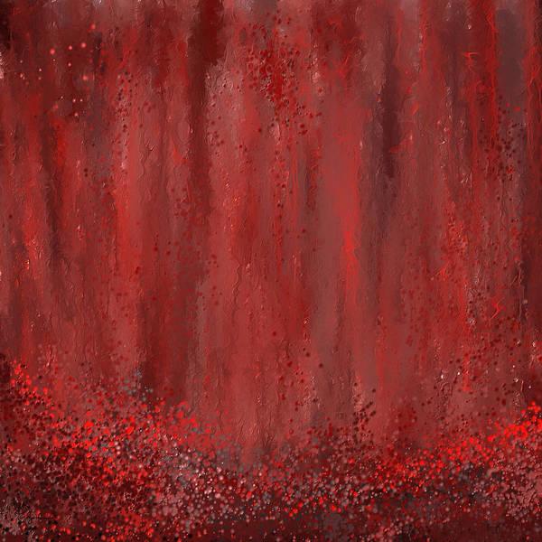 Painting - Lost Garden- Marsala Art by Lourry Legarde