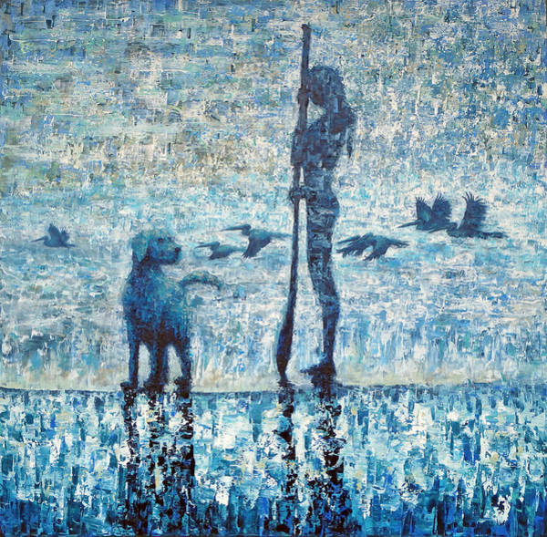 Paddling Painting - Lost In A Moment by Ned Shuchter