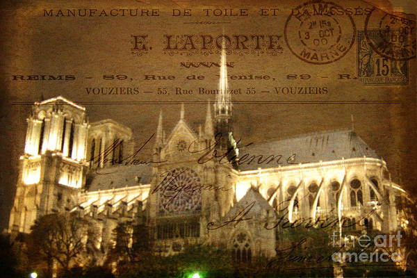 Wall Art - Photograph - Lost In Paris Post Card by Lee Dos Santos