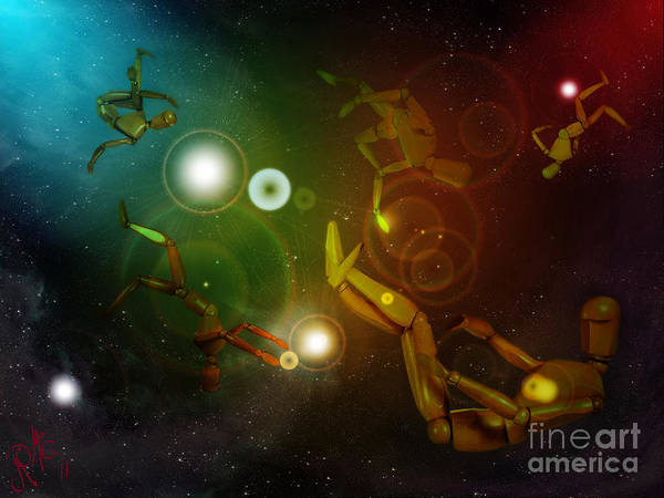 Dummy Digital Art - Lost In Space by Rosa Cobos
