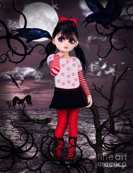 Digital Art - Lost Little Girl by Alicia Hollinger