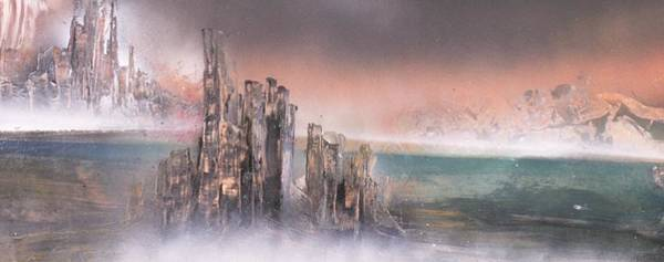 Wall Art - Painting - Lost Outpost by P Cole