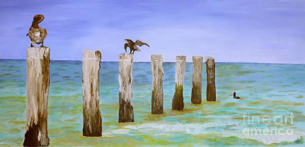 Post-it Painting - Lost Pier by Christine Dekkers