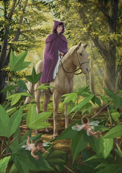 Painting - Lost Princess On Horseback by Martin Davey