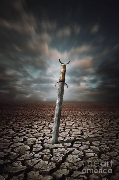 Magic Kingdom Photograph - Lost Sword by Carlos Caetano
