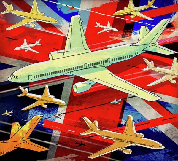 Photograph - Lots Of Aircraft Flying Over British by Ikon Ikon Images