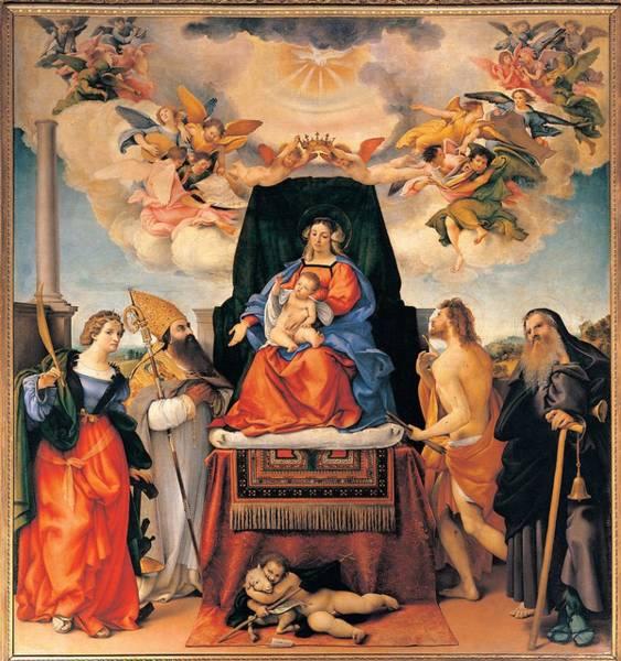 Wall Art - Photograph - Lotto Lorenzo, Altarpiece Of Santo by Everett