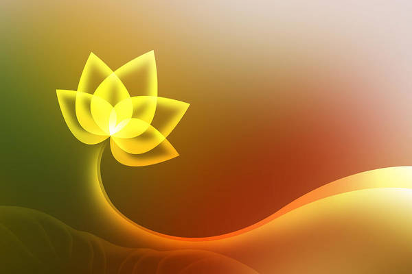 Lotus Background. Art Print