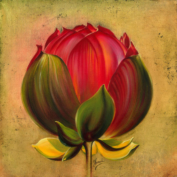 Painting - Lotus Bulb by Anna Ewa Miarczynska