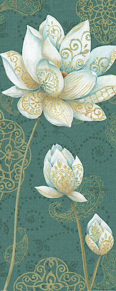Wall Art - Painting - Lotus Dream IIb by Daphne Brissonnet