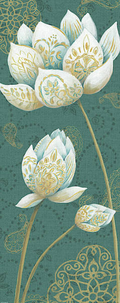 Wall Art - Painting - Lotus Dream IIib by Daphne Brissonnet