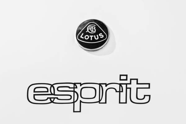 Photograph - Lotus Esprit Emblem -0395bw by Jill Reger