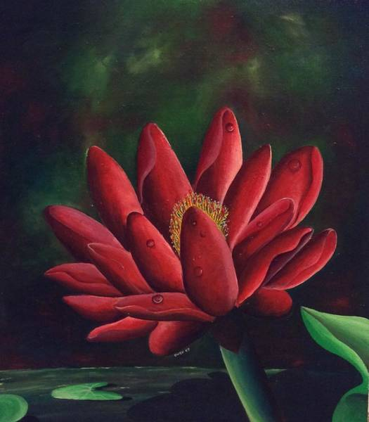 Painting - Lotus Flower by Owen Lafon