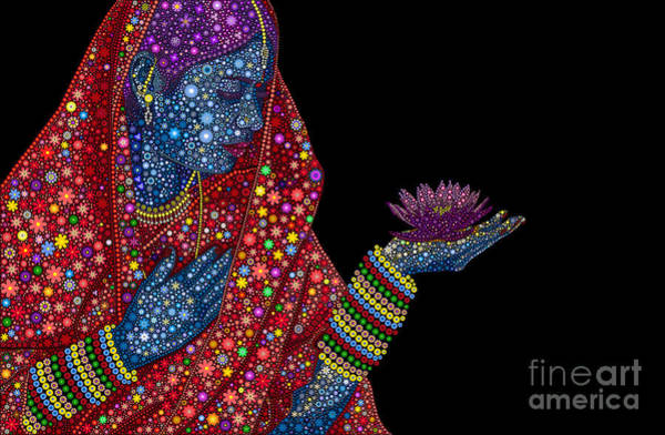 Divine Love Wall Art - Digital Art - Lotus Girl by Tim Gainey