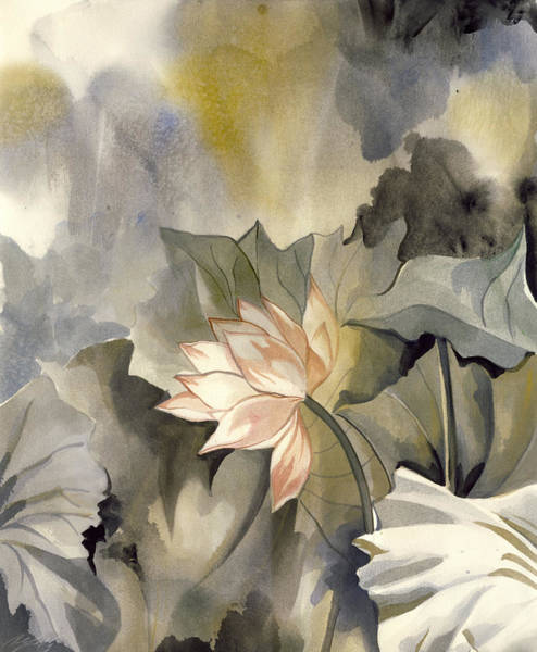 Painting - Lotus In Bloom by Alfred Ng