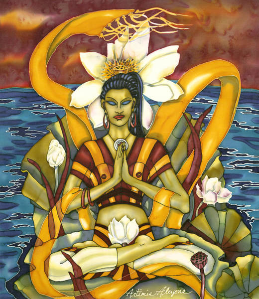 Painting - Lotus Pose by Artimis Alcyone