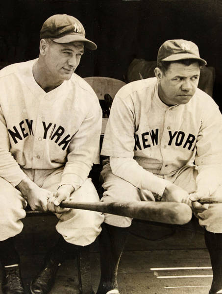 Babe Photograph - Lou Gehrig And Babe Ruth by Bill Cannon