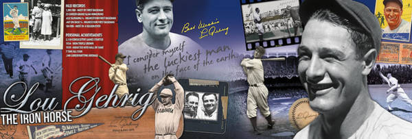 Wall Art - Photograph - Lou Gehrig Panoramic by Retro Images Archive