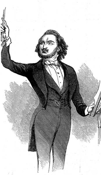 Wall Art - Drawing - Louis-antoine Jullien  French Musician by  Illustrated London News Ltd/Mar
