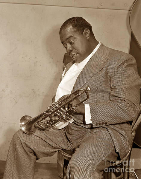 Photograph - Louis Armstrong  At Monterey Jazz Festival Of 1958  by California Views Archives Mr Pat Hathaway Archives