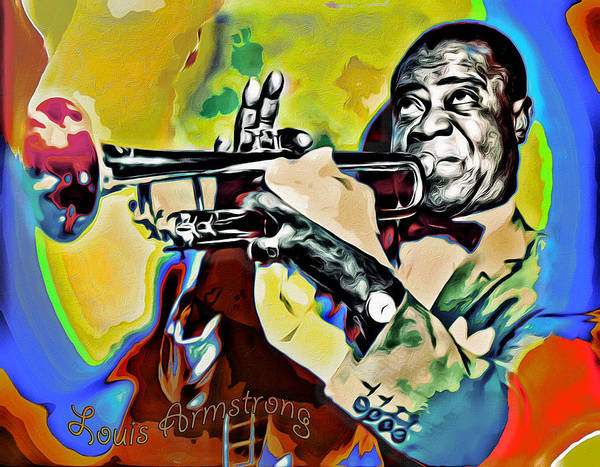 Photograph - Louis Armstrong by Carlos Diaz