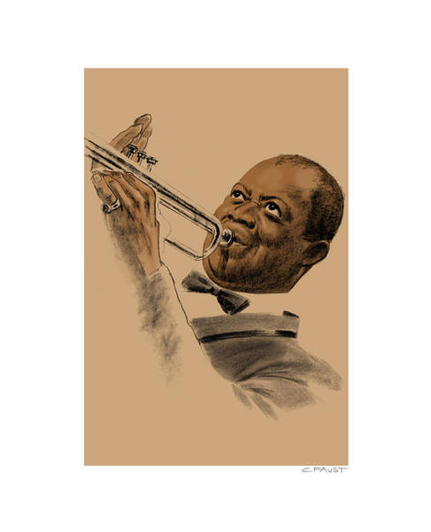 Drawing - Louis Armstrong by Clifford Faust