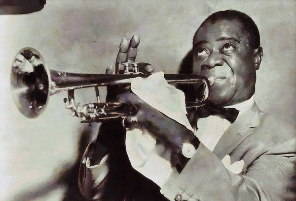 Wall Art - Painting - Louis Armstrong by Dan Sproul