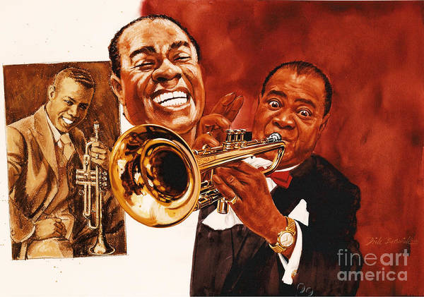 Wall Art - Painting - Louis Armstrong by Dick Bobnick