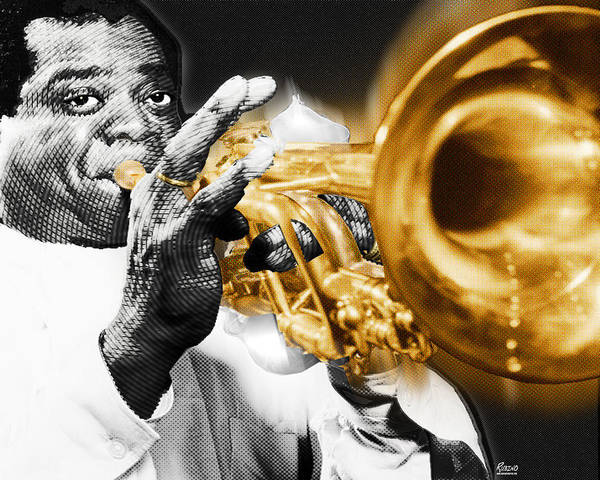 Painting - Louis Armstrong by Tony Rubino