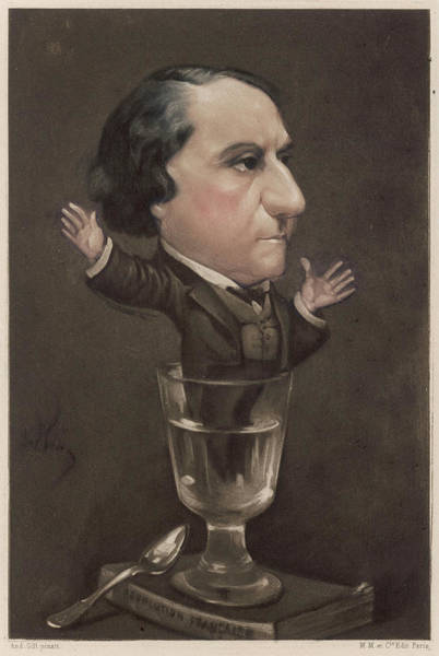Gill Drawing - Louis Blanc  French Socialist by Mary Evans Picture Library