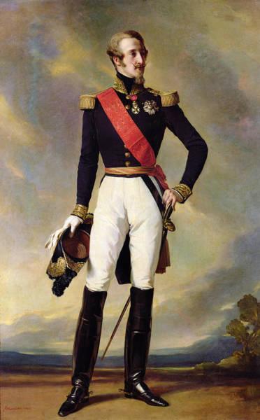 Epaulette Photograph - Louis-charles-philippe Of Orleans 1814-96 Duke Of Nemours, 1843 Oil On Canvas by Franz Xaver Winterhalter