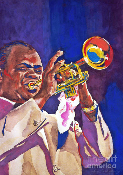 Painting - Louis Satchmo Armstrong by David Lloyd Glover