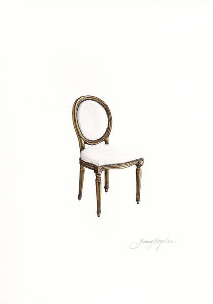 Girly Painting - Louis Style Chair by Jazmin Angeles