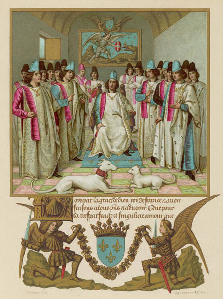 Courtiers Drawing - Louis Xii, King Of France,  Presides by Mary Evans Picture Library