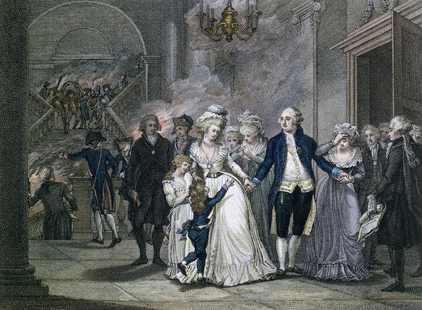 1755 Photograph - Louis Xvi 1754-93 Bidding Farewell To His Family, 20th January 1793, Engraved By Reinier Vinkeles by French School