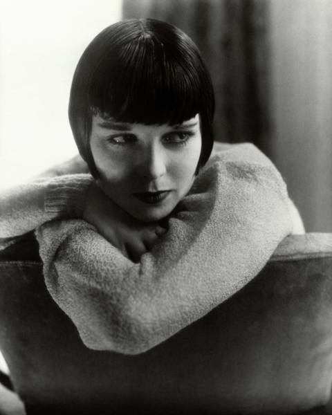 Young Woman Photograph - Louise Brooks On A Chair by Edward Steichen